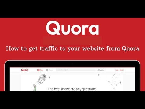 How to get traffic to your website from quora | forum posting tutorial thumbnail