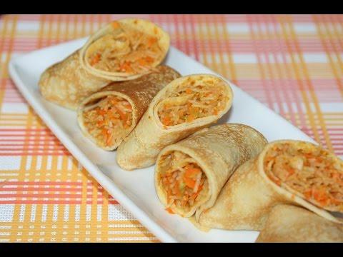 crêpe-salée-végétarienne---savory-stuffed-crepe---كريب-معمرلذيذ-بالخضر