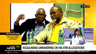 ATM responds to Magashule and Ngqulwana's allegations