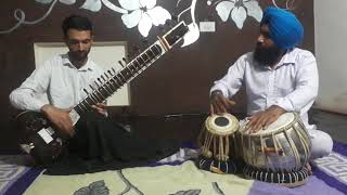 Riyaz time raag rageswari sitar  playing zahoor ahmad tabla jarmanjeet singh 9781691462