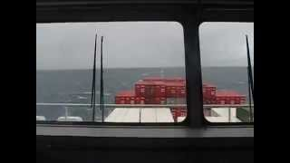 CONTAINER SHIP HITS STORM IN AUSTRALIA - SEE IT FROM THE BRIDGE