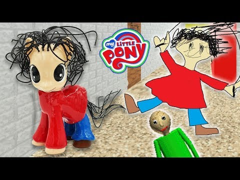 Custom PLAYTIME MY LITTLE PONY Baldi's Basics Tutorial DIY