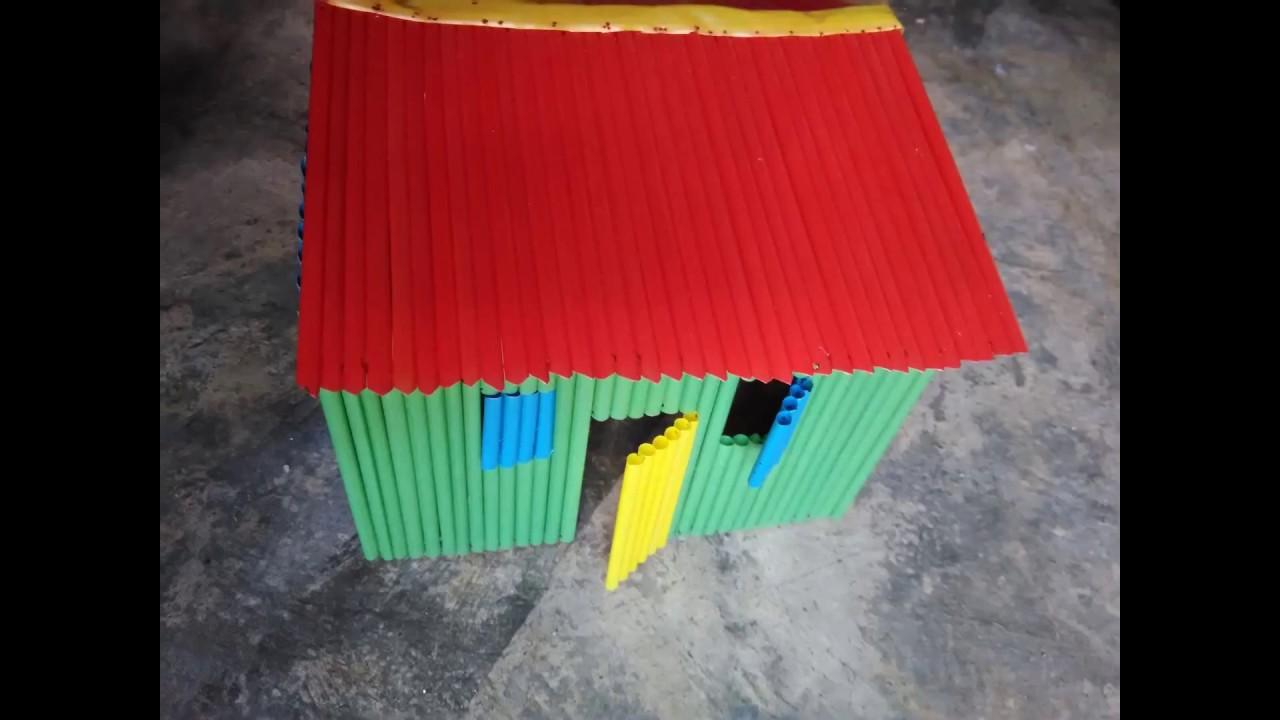 Cara Membuat Miniatur Rumah dari Sedotan. SMAN 1 BOJONEGORO d391087659