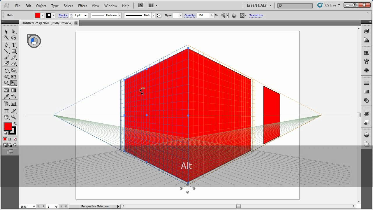how to make perspective in illustrator