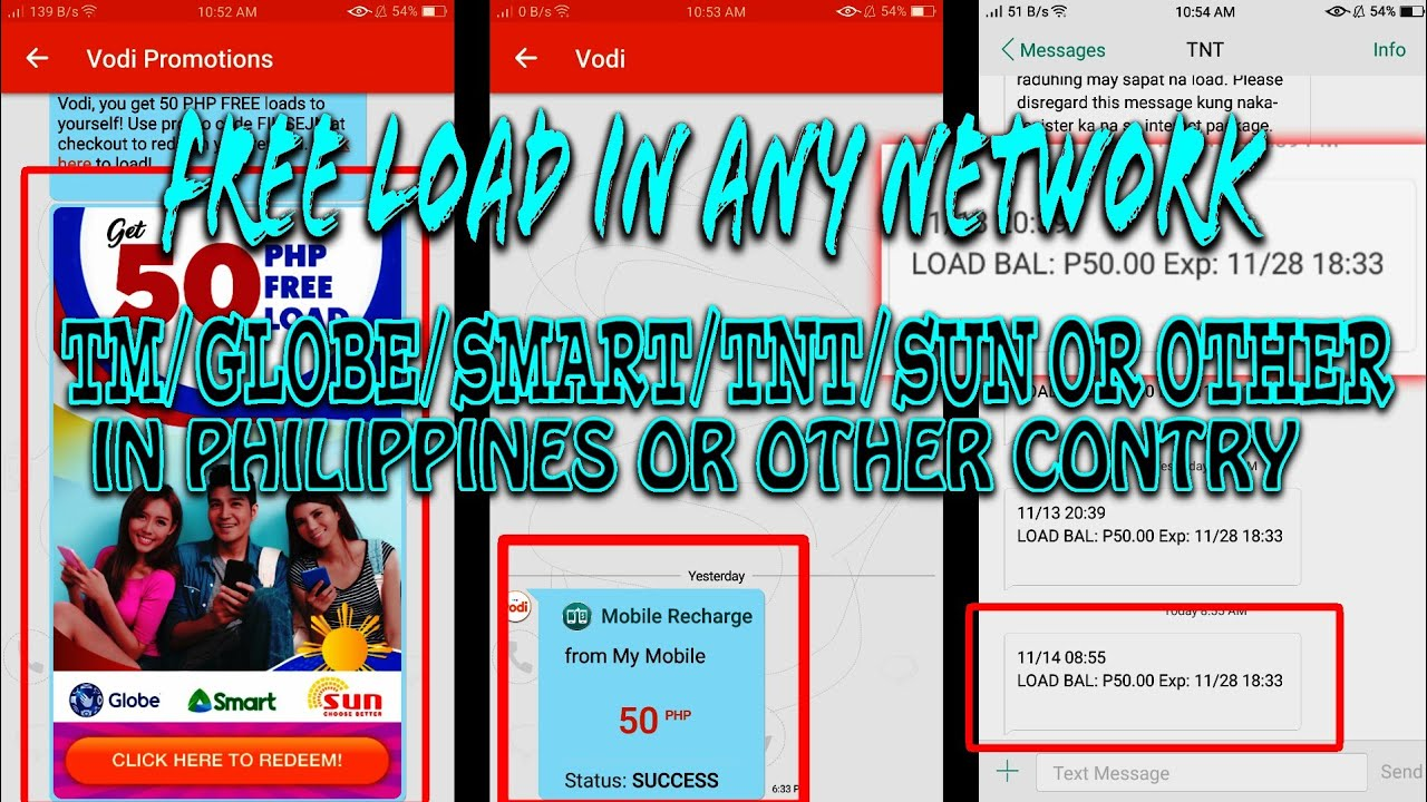 How to get FREE LOAD in - SMART/GLOBE/TNT/TM or ANY NETWORK in PHILIPPINES  - 2018 TUTORIAL 100%PROOF