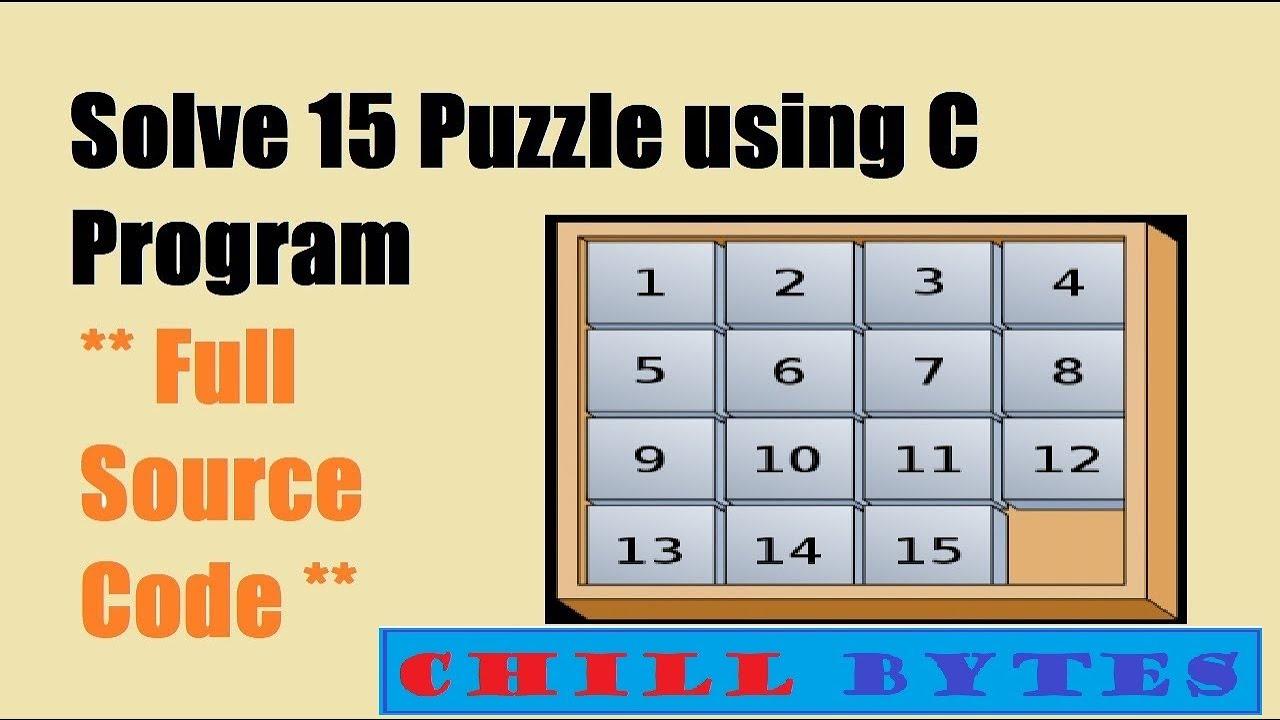 15 Puzzle Program Using C Program with full source