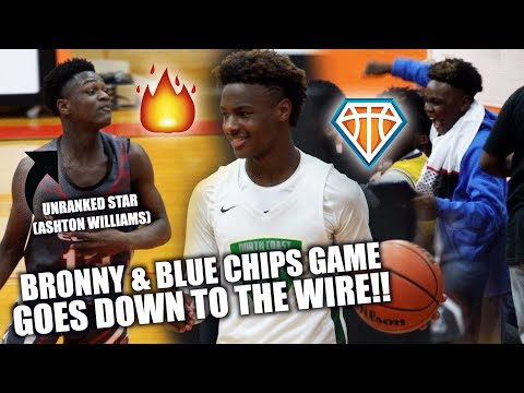 BRONNY & THE BLUE CHIPS vs UNRANKED STAR!! | HEATED Game vs Ashton Williamson Has CRAZY Ending