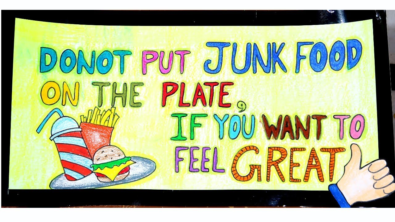 Poster On Food And Health With Attractive Slogan