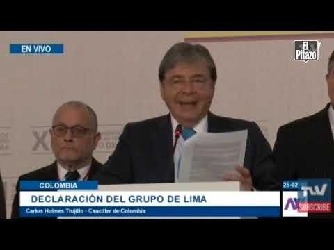 Grupo de Lima solicita a CPI evaluar crimen de lesa humanidad cometido en Venezuela este #23Feb