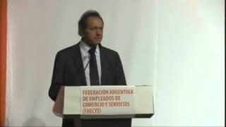 Scioli se reunió con la Federación Argentina de empleados de comercio y servicios