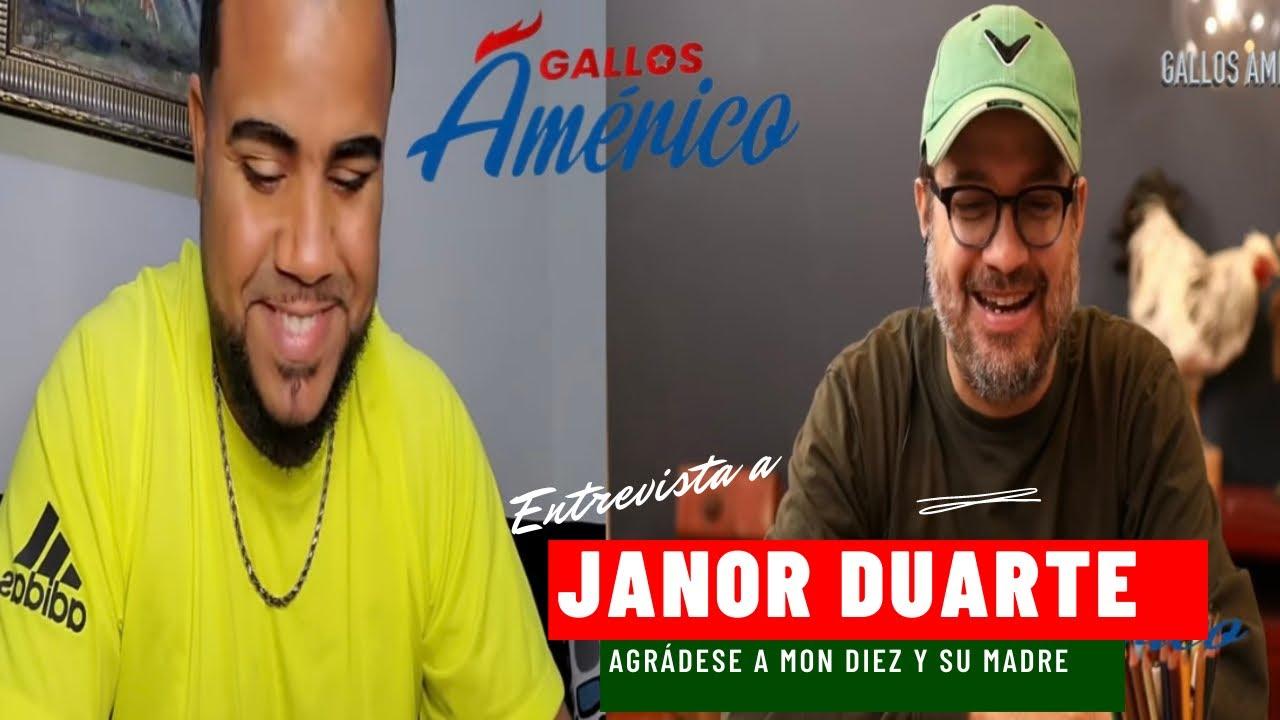 Download Conversatorio con Janor Duarte donde le da las gracias a Mon diez por su apoyo incondicional