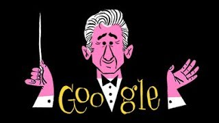 Leonard Bernstein's 100th Birthday Google Doodle