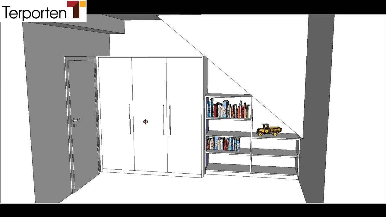 kleiderschrank unterhalb dachschr ge youtube. Black Bedroom Furniture Sets. Home Design Ideas