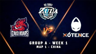 IZAKO BOARS vs X6TENCE | Map 1 | Zula Europe ESL Major League | Group A - Week 1