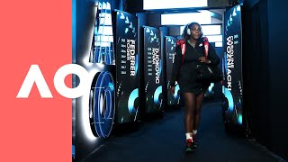 Serena Williams and Karolina Pliskova on-court warm up (QF) | Australian Open 2019