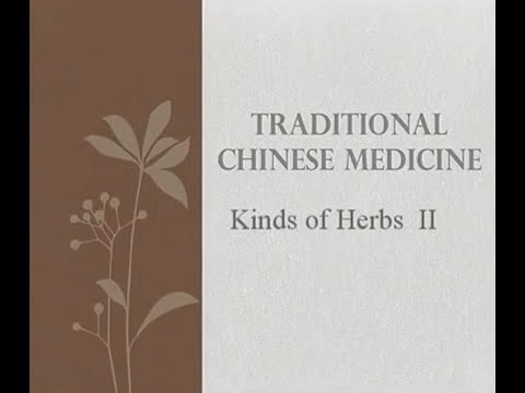 Kind of Herbs Part 2 - Traditional Chinese Medicine and Acupuncture