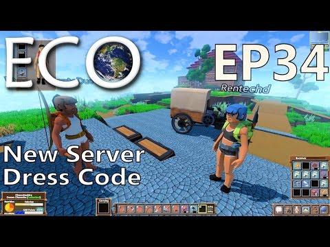 ECO | EP 34 | New Server Dress Code | Multiplayer ECO Gameplay (S1)