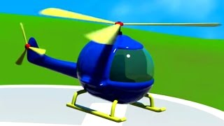 3D Мультик Конструктор: Аэропорт. Собираем вертолет. Большая сборка для самых маленьких.