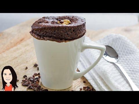 Vegan Cake In a Mug Recipe - Chocolate Peanut Butter!
