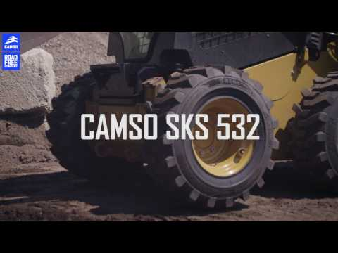 Contractor finds the right skid steer tire for its need with Camso SKS 532