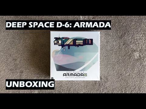 Unboxing Deep Space D-6 Armada board game