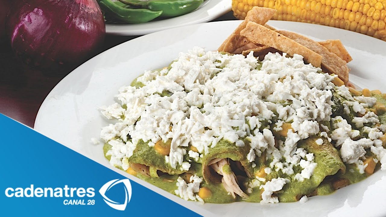 Receta para preparar enchiladas de mole verde y verduras ...