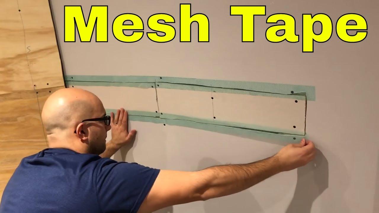 Using Mesh Tape For Drywall Repair Diy