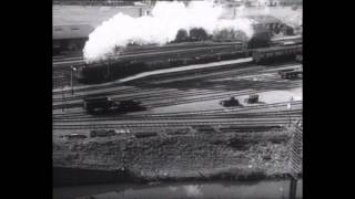 'Trains At Hayes' - the world's first stereo film, made in 1935 (clip)