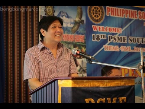 Sen. Bongbong Marcos - Philippine Society of Mechanical Engineering, 18th Mindanao Assembly