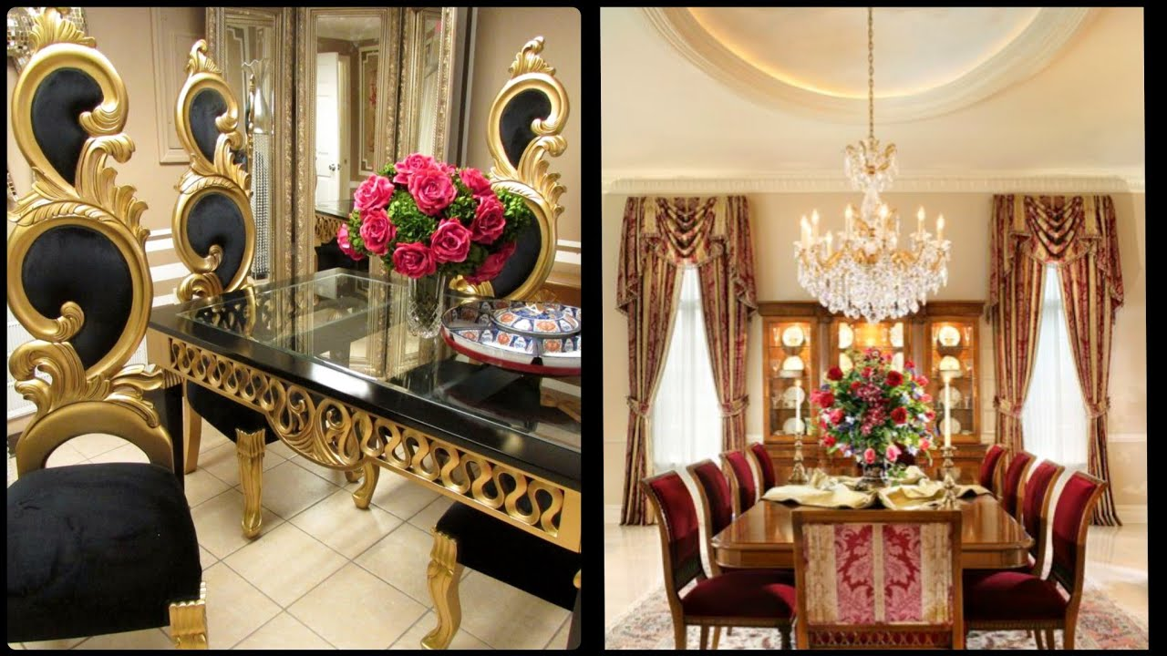 65 Most Luxurious Dinner Room Decor Ideas Royal Dining Table Design Youtube