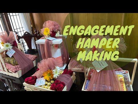 Engagement hamper making vlog ||engagement arrangements ||hamper making||nidas_world