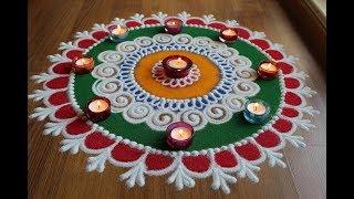 Laxmi Pujan special sanksar Bharti rangoli designs with colours for Diwali by Shital Daga - 2 of 3
