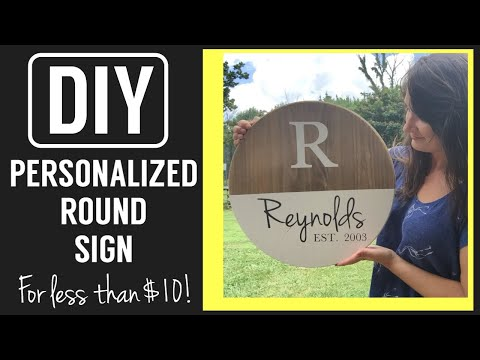 Easy Cricut Project| Personalized Round Sign DIY