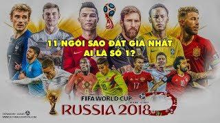 NGÔI SAO WORLD | Top 11 chân sút đắt giá nhất World Cup 2018