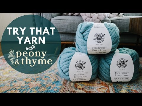 Watch Me Try Loops & Threads Free Spirit Yarn for the First