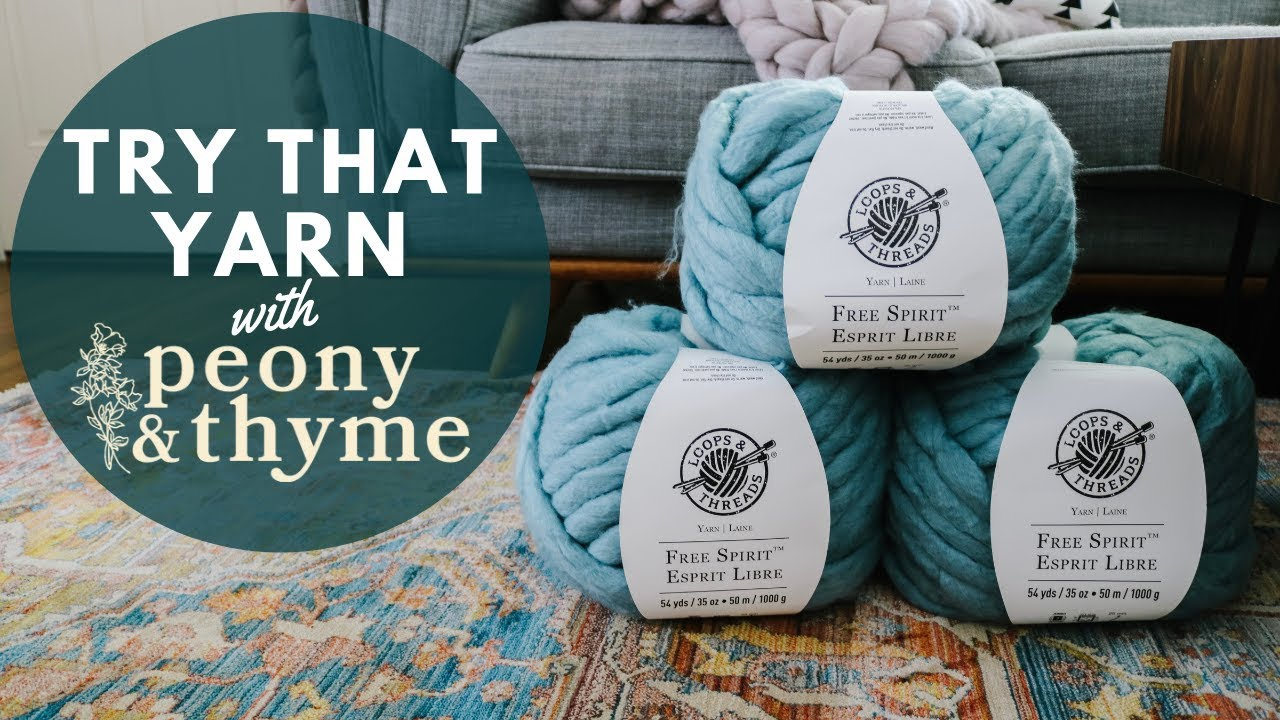 Watch Me Try Loops & Threads Free Spirit Yarn for the First Time!