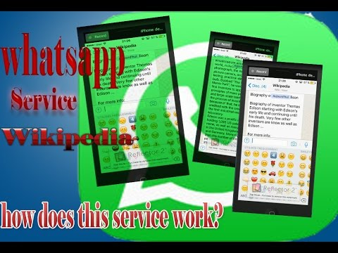 Whatsapp wikipedia service, how does this service work?