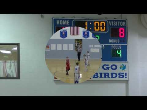 01/19/2017 HMS Bluebirds vs Turkey Foot Indians 7th grade Basketball