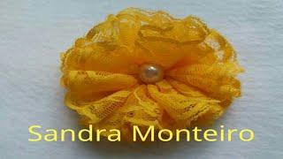 DIY: FLOR DE RENDA POR SANDRA MONTEIRO