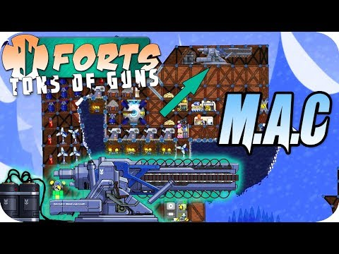 MAC Cannon, INSANE Destruction Forts Multiplayer Gameplay