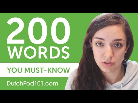 200 Words Every Dutch Beginner Must-Know