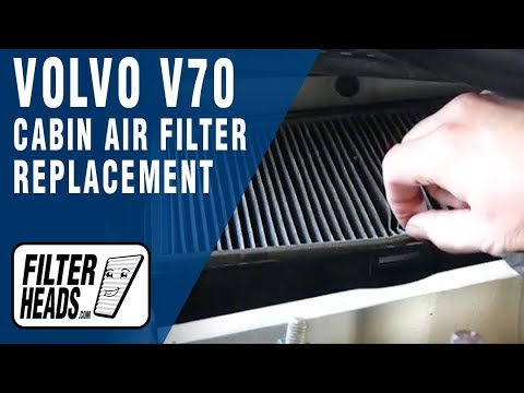 How To Replace Cabin Air Filter Volvo V70 Youtube