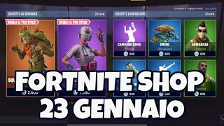 """""""TODAY's FORTNITE SHOP 23 January skin REX and SPECIAL SQUAD TRICERATOPO"""