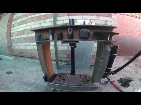 видео: Пресс для гаража