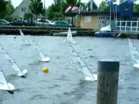 Rc Laser Sailboat Race In Terherne Youtube