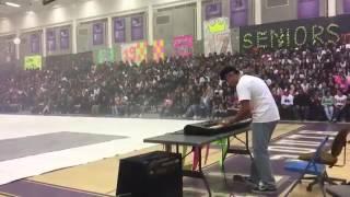 """STILL DR DRE ""  PIANO HIGH SCHOOL RALLY !!! (BLACKLIGHT HIGH SCHOOL RALLY"