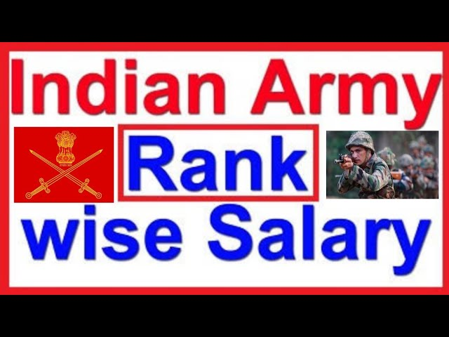 army rank wise salary