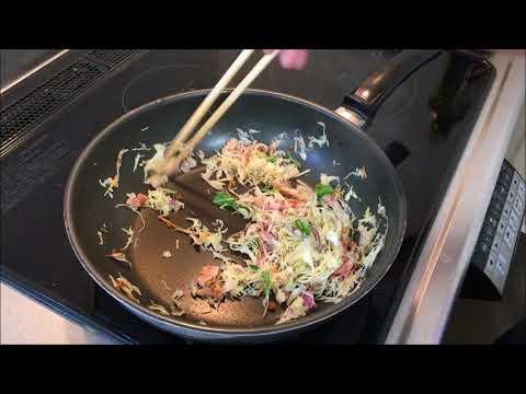 ヘルシーで簡単美味しい料理動画レシピ きのこクッキング 山伏茸(ヤマブシタケ)  山伏茸ブレインティー入り焼きそばの作り方  ワールド・ハッピネス