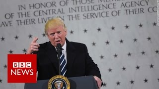 Donald Trump to CIA  I love you, I respect you    BBC News
