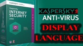 how to change kaspersky display language